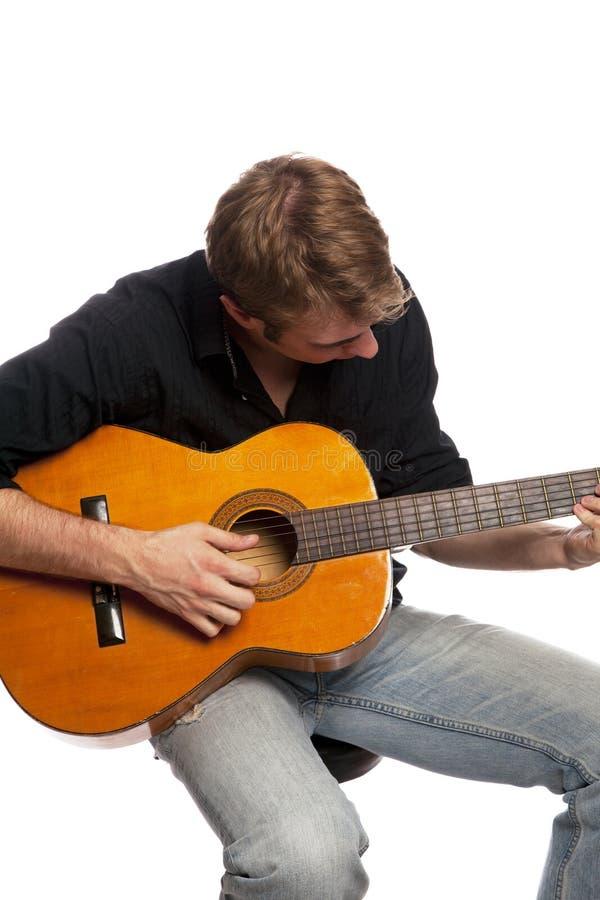 Guitar player 03 stock photography