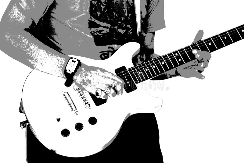 Guitar player 1 royalty free stock image