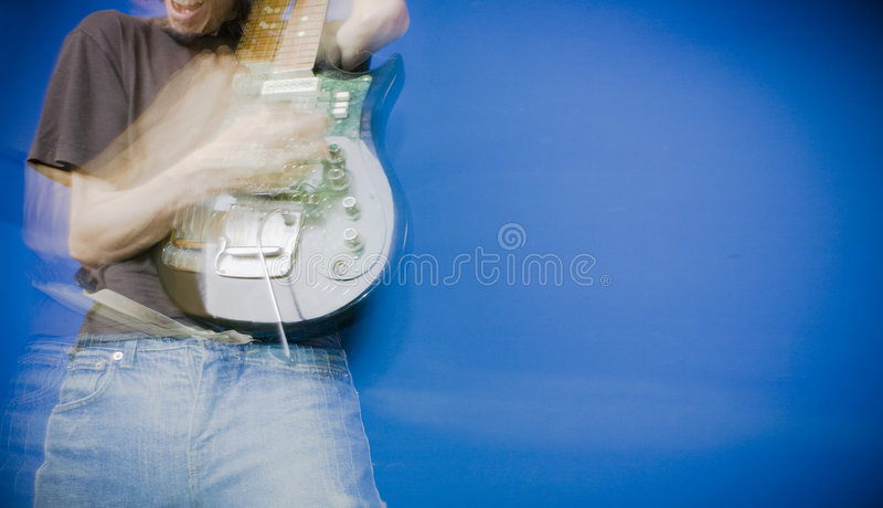 Guitar Player. A guitar player rocking out stock images