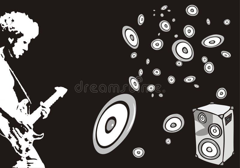 Guitar player stock illustration