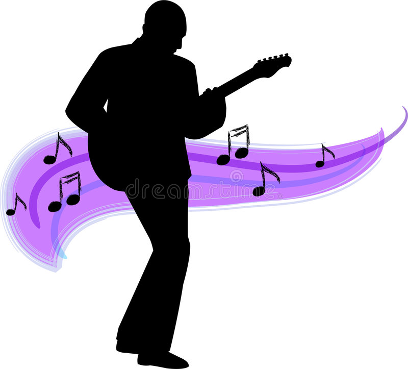 Guitar player/ai. Silhouette illustration of a man playing guitar...ai file available
