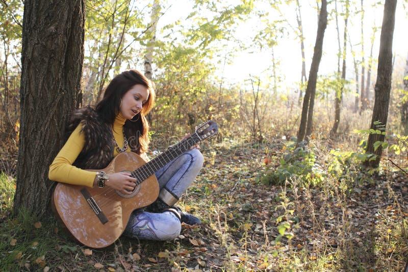 Download Guitar player girl stock image. Image of fashion, guitarist - 16972195
