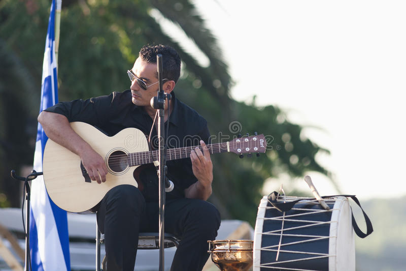 Guitar Player On Ibiza Editorial Photography