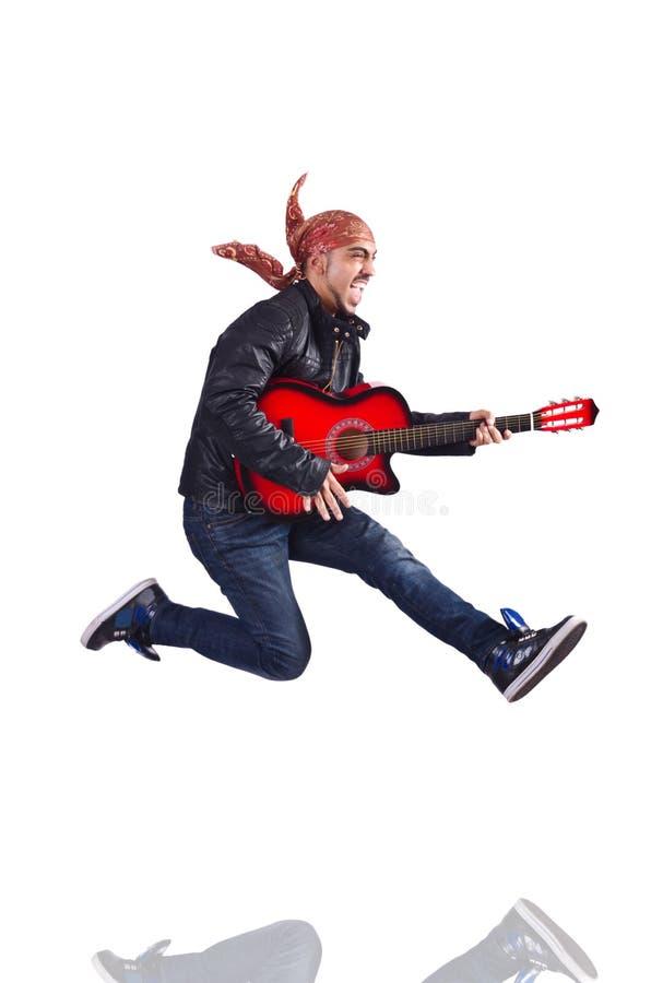 Download Guitar player stock image. Image of jumping, guitar, entertainment - 30834779