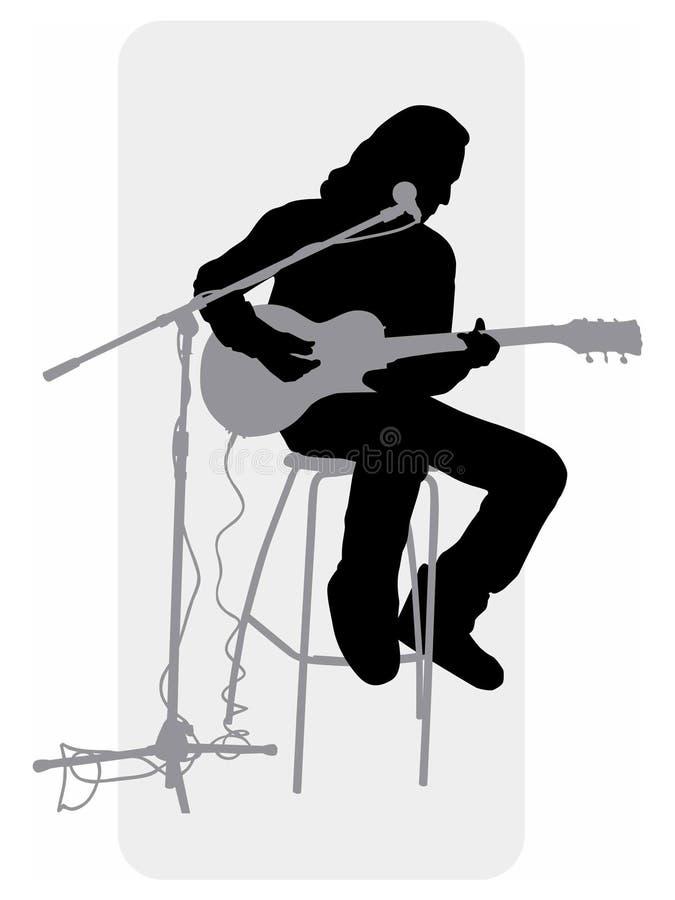 Guitar-player_silhouette vector illustratie