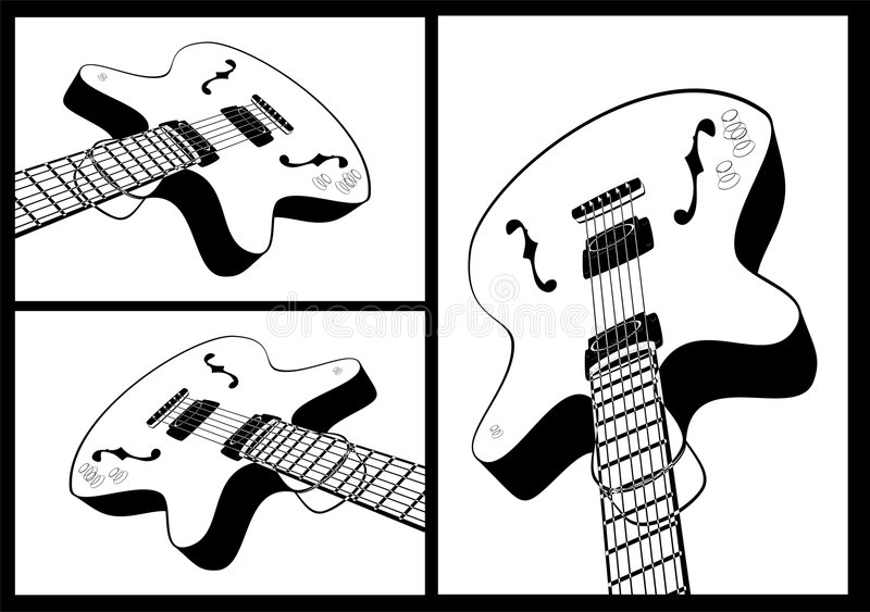 Guitar shape royalty free stock images