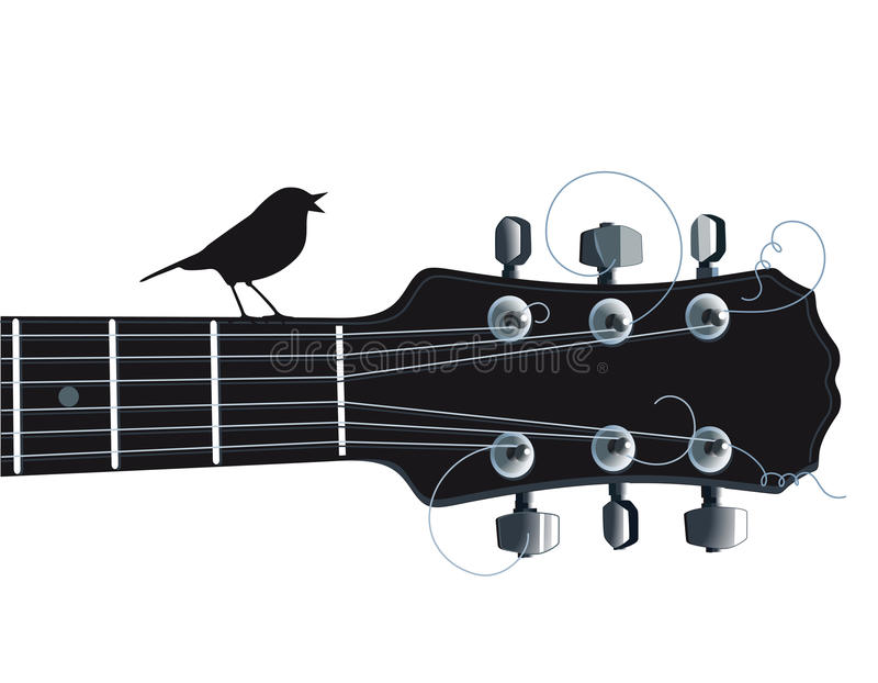 Download Guitar With Singing Bird Royalty Free Stock Images - Image: 35380889