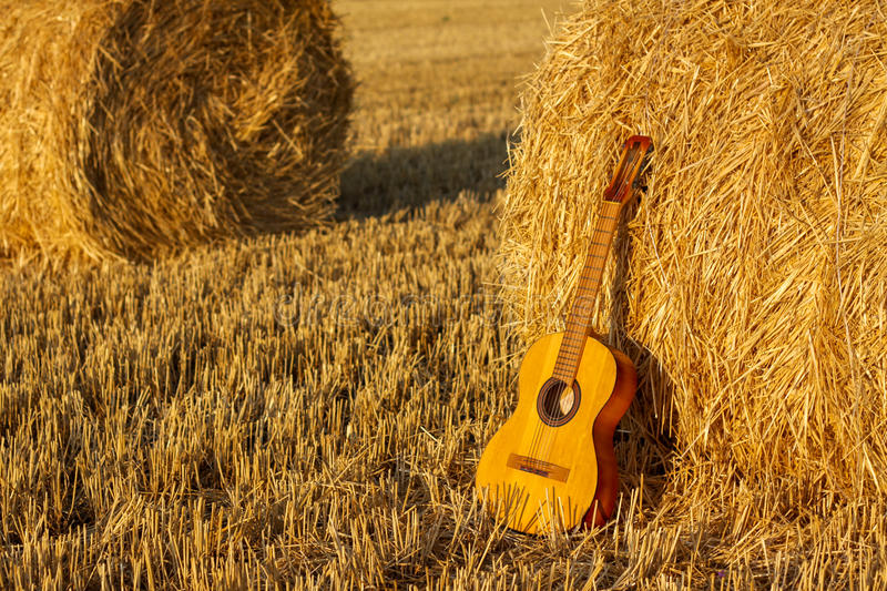 Guitar and stack royalty free stock image