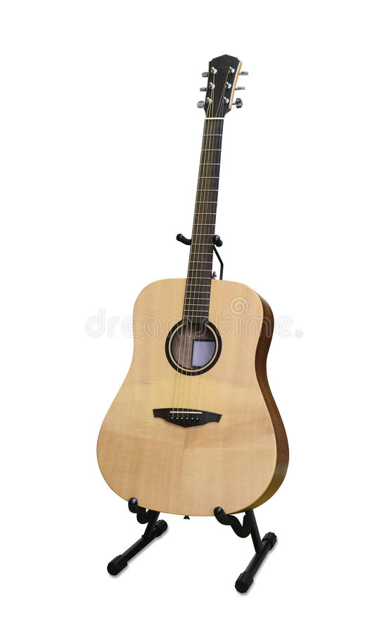 Guitar on stand royalty free stock photography