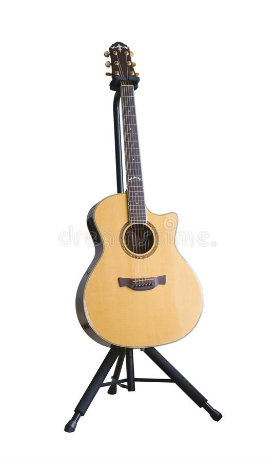 Guitar on stand stock photography