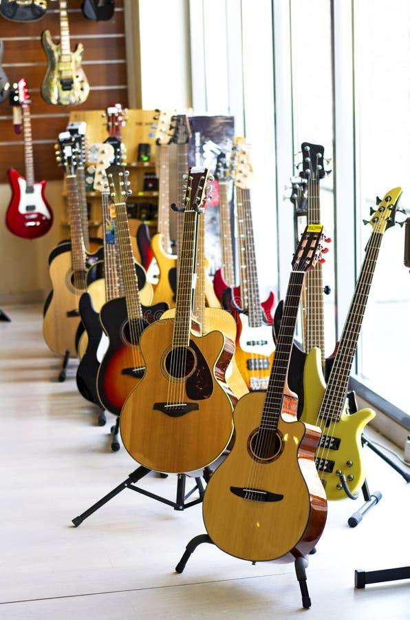 Guitar store royalty free stock photos