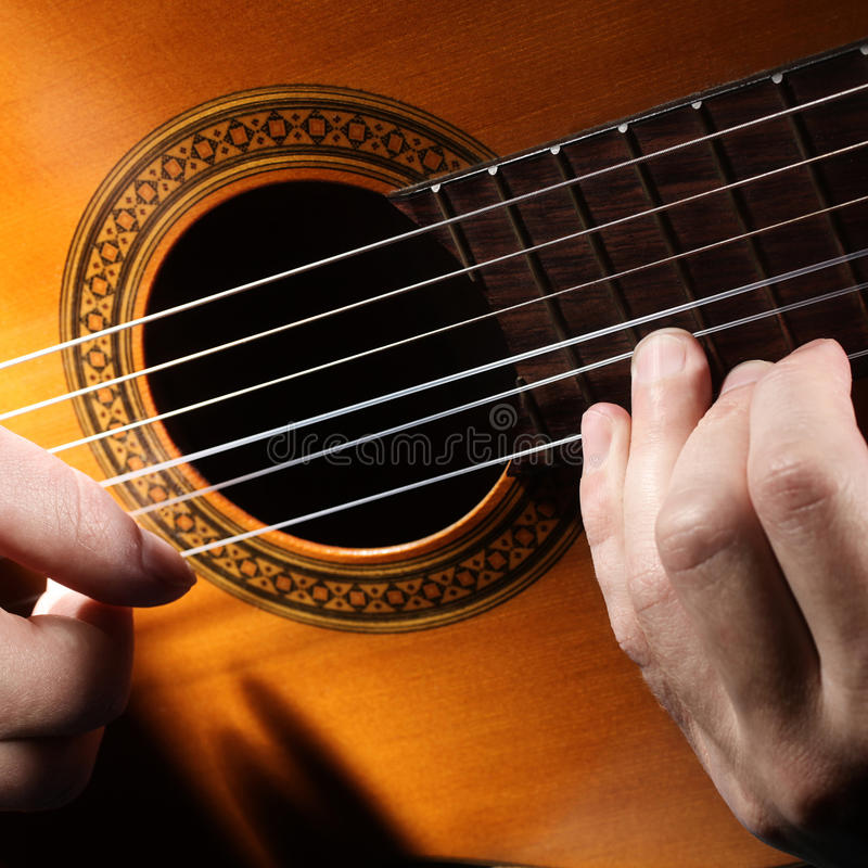 Download Guitar string. stock photo. Image of music, performance - 21364838