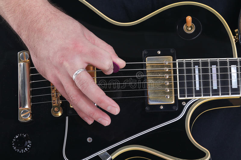 Download Guitar, string and hand stock photo. Image of close, button - 22492112