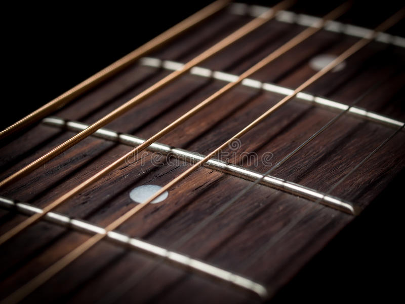 Download Guitar strings close up stock photo. Image of play, wood - 33294694