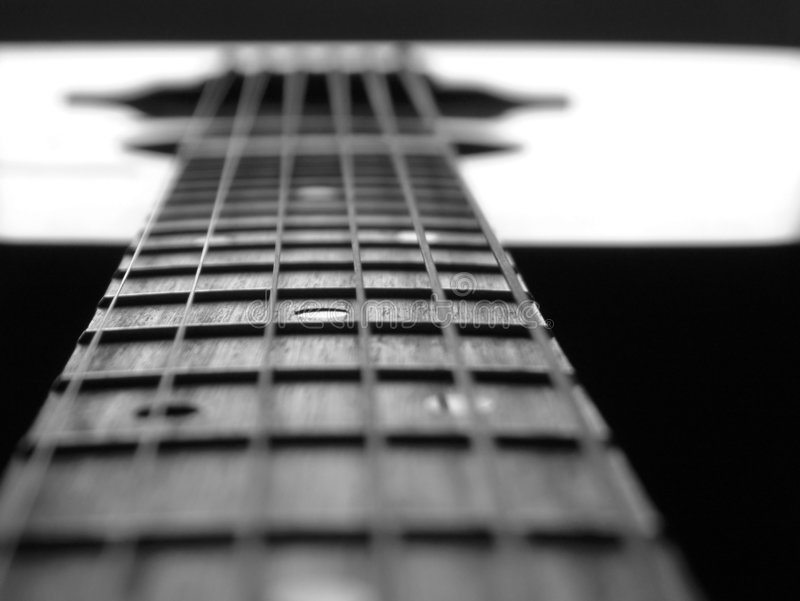 Guitar study1 royalty free stock image
