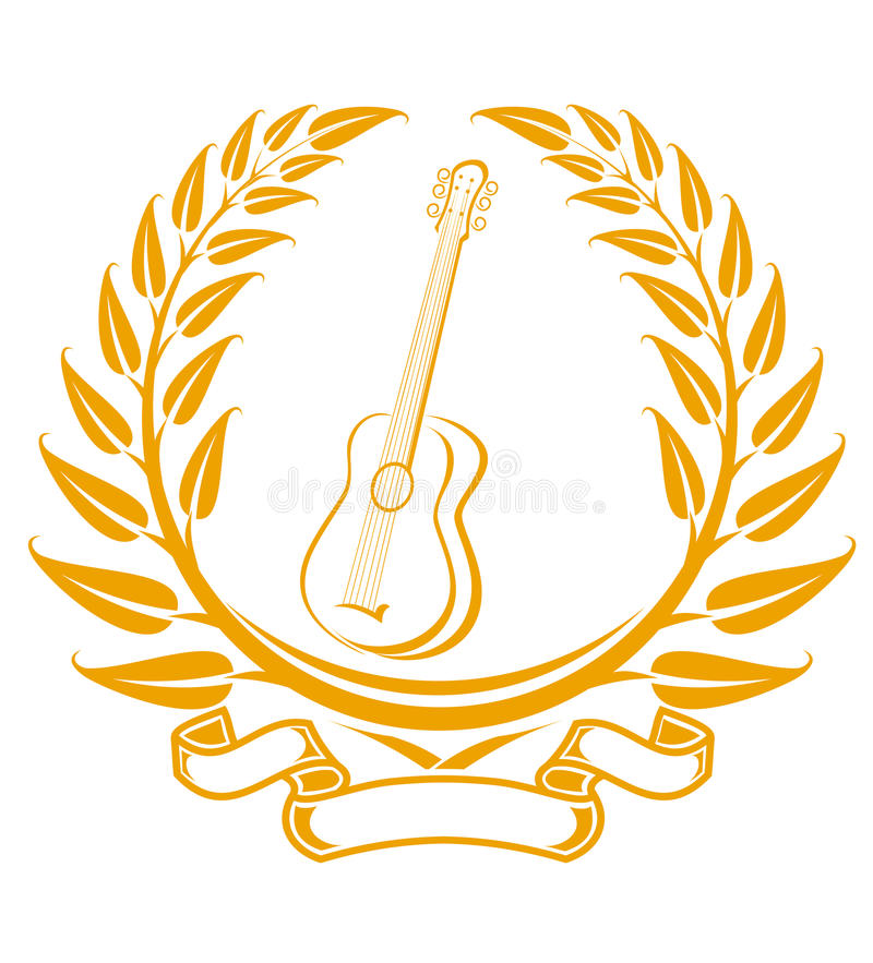 Download Guitar symbol stock vector. Image of achievement, competition - 18196626