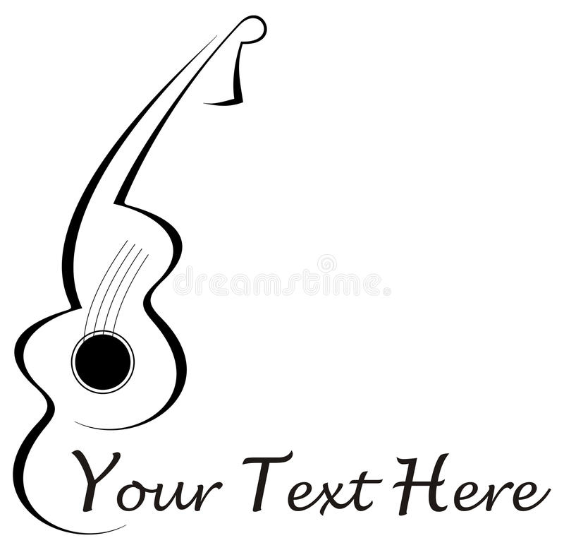 Download Guitar tattoo stock vector. Image of composer, jazz, accord - 10788904