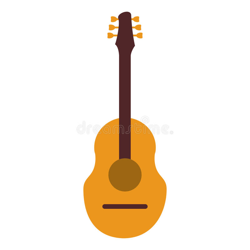 Guitar traditional acoustic music vector illustration