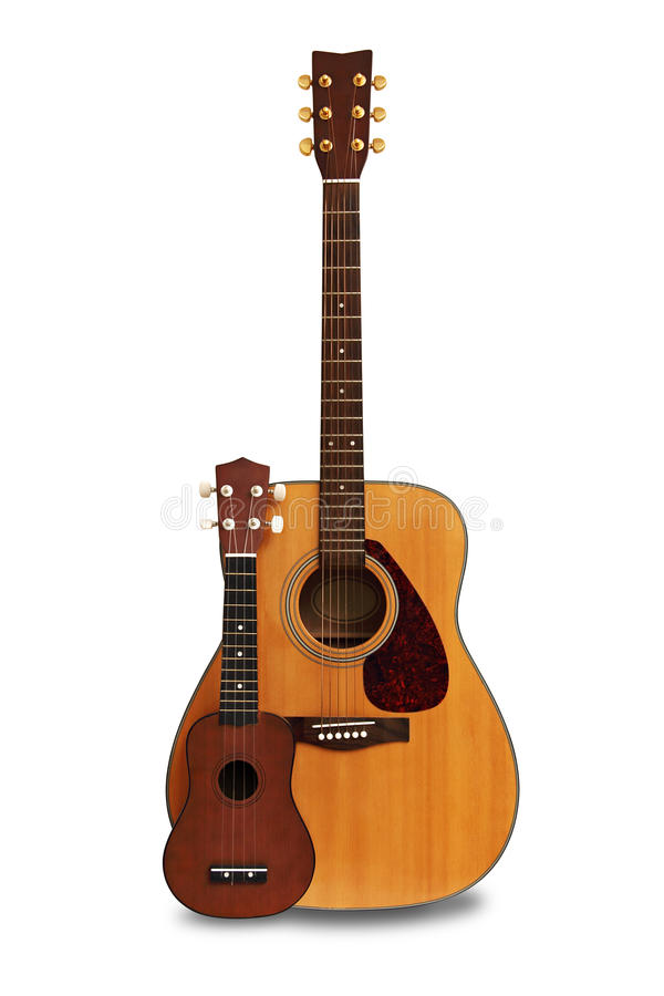 Download Guitar and ukulele stock photo. Image of instrument, brown - 24938128