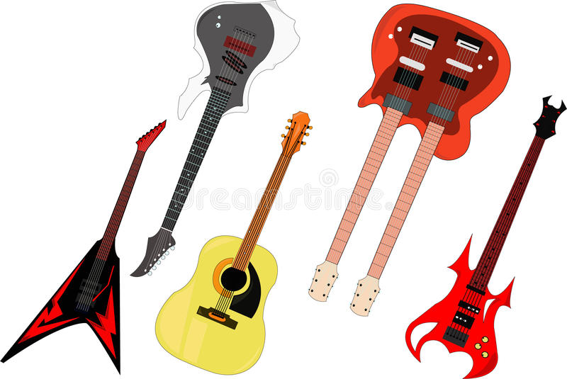 Download Guitar unique stock vector. Illustration of sound, drum - 25556890