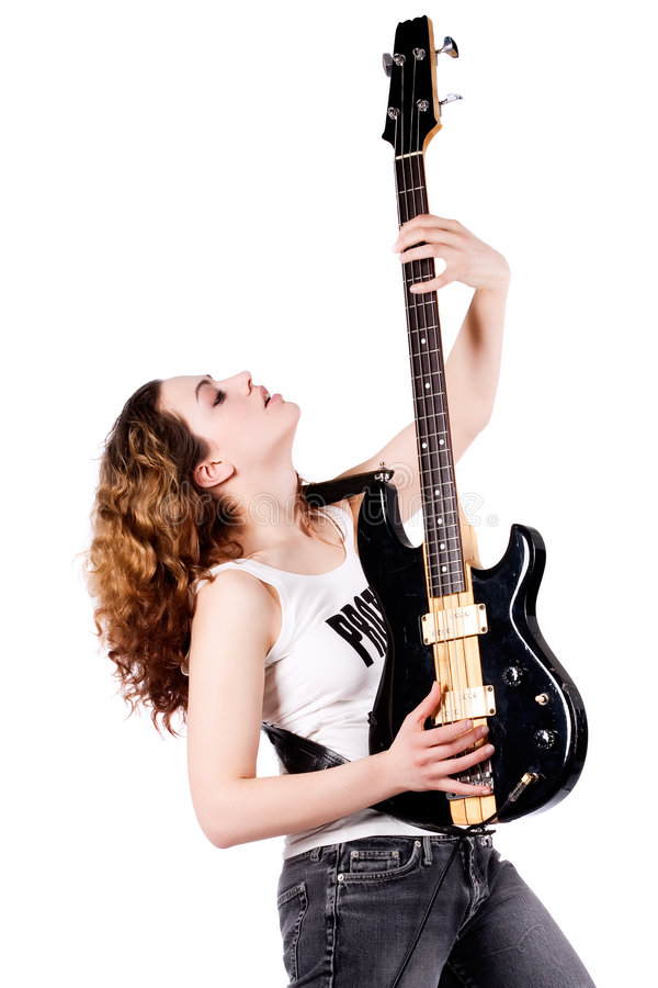 Download Guitar up stock photo. Image of performance, brunette - 8895570