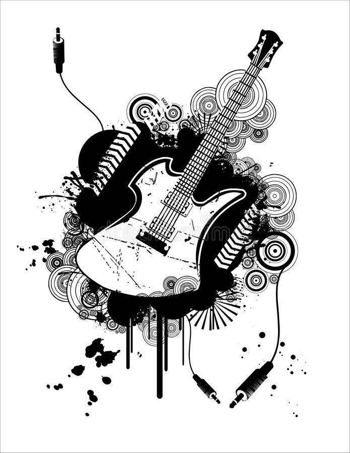Download Guitar vector stock vector. Image of texture, insect, composition - 6681915