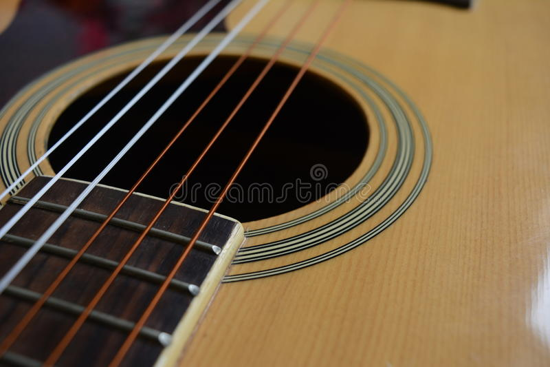 Guitar Wallpaper. Close up Guitar Wallpaper Background stock photo