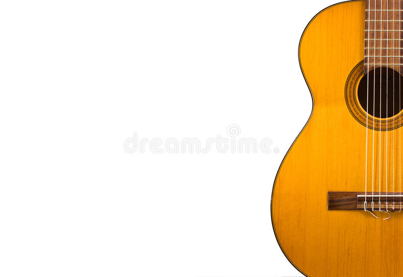 Guitar wallpaper isolated on white background for poster design stock image