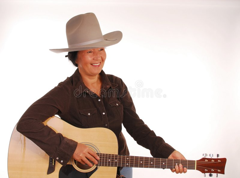 Guitar Woman Two stock image