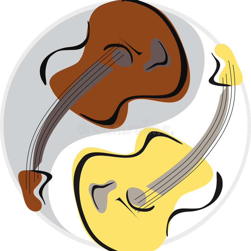Download Guitar yinyang stock vector. Image of instrument, japan - 9666156