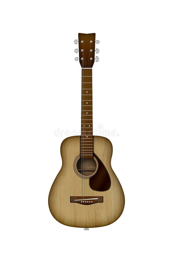 Guitare à six cordes acoustique Illustration photo libre de droits