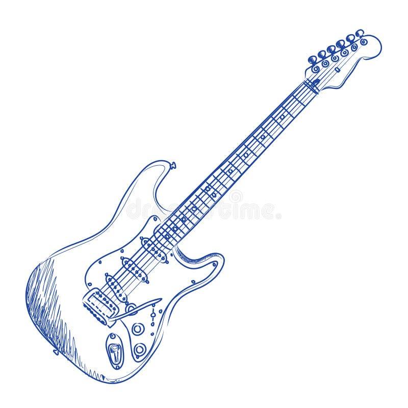 Guitare électrique illustration libre de droits