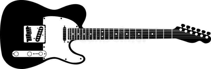 Guitare électrique illustration de vecteur