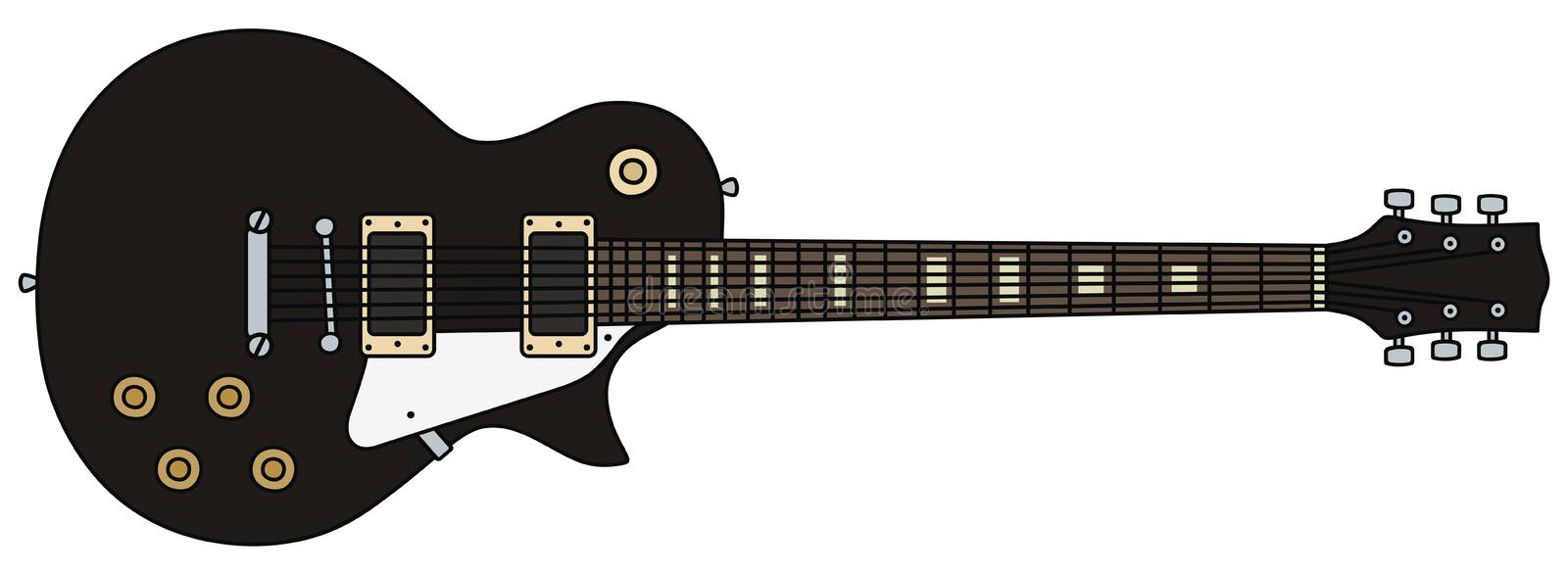 Guitare électrique illustration stock