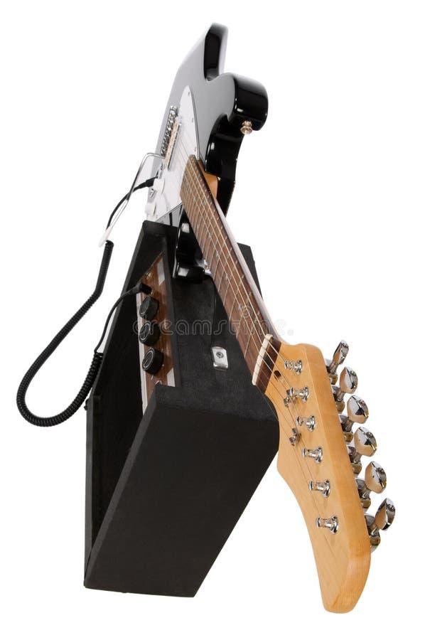Guitare électrique avec l'ampère photos libres de droits