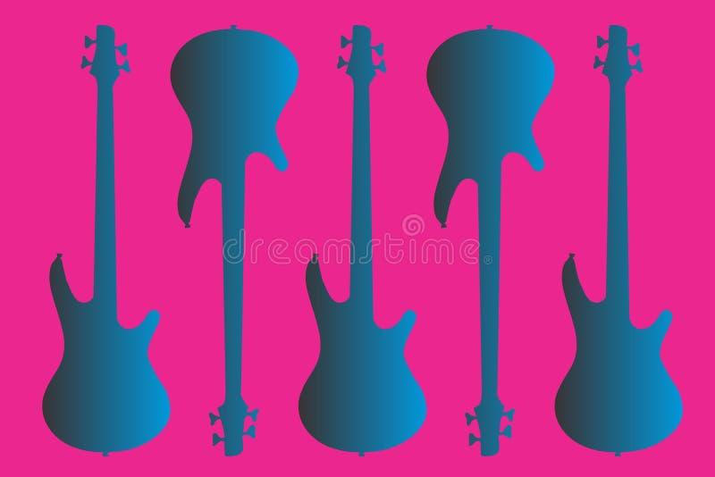 Guitare électrique bleue photos libres de droits