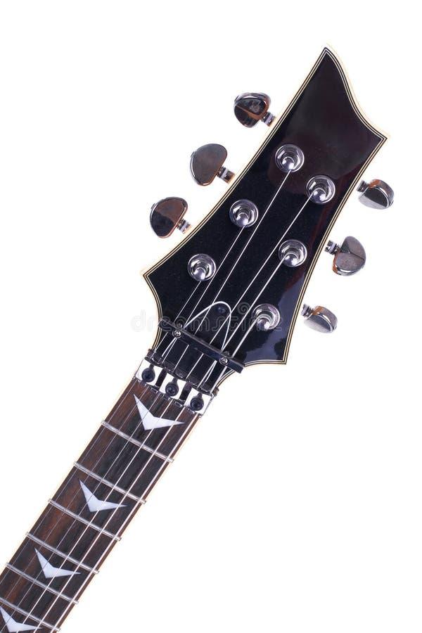 Guitare électrique d'isolement sur le fond blanc image stock