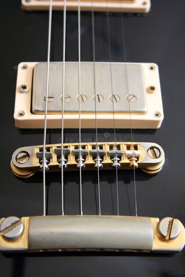Guitare électrique de cru - son des vieux jours images stock