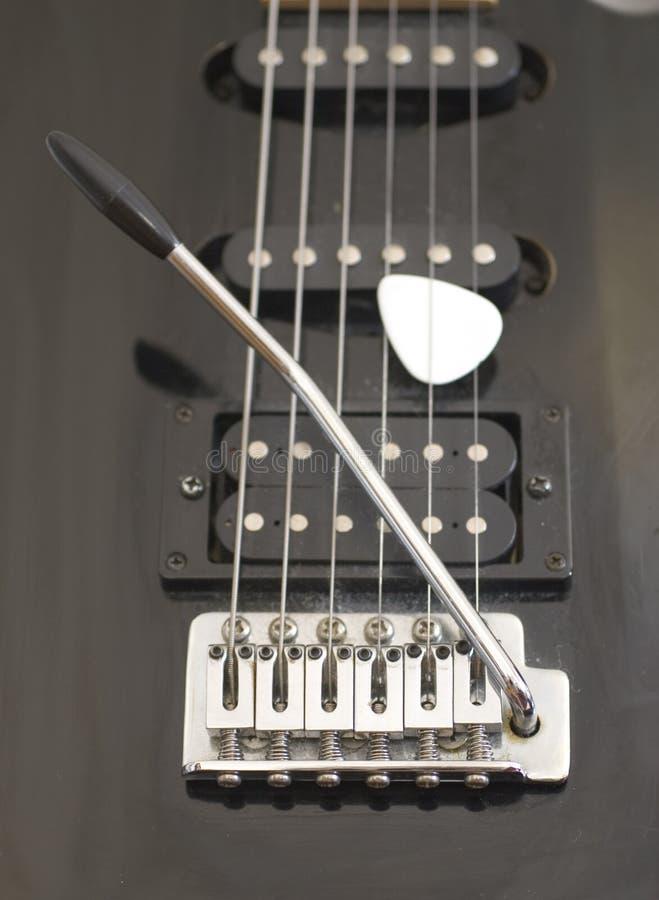 Guitare électrique et sélection (1241) images stock