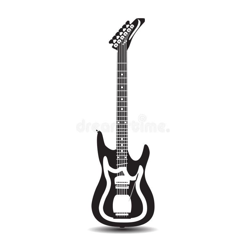 Guitare électrique, illustration de vecteur dans le style plat illustration de vecteur