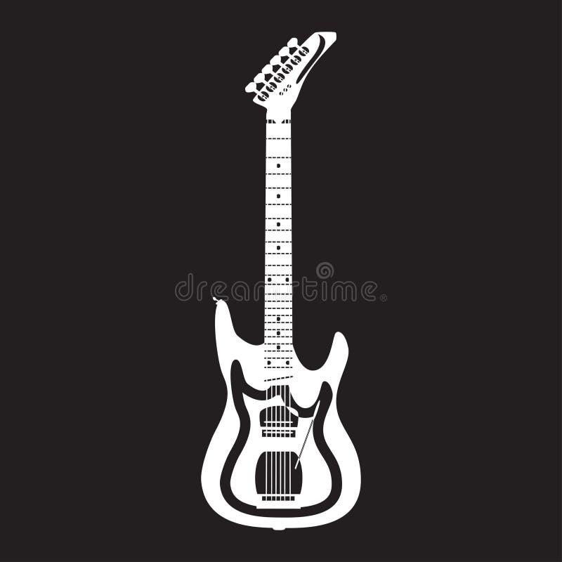 Guitare électrique, illustration de vecteur dans le style plat illustration stock