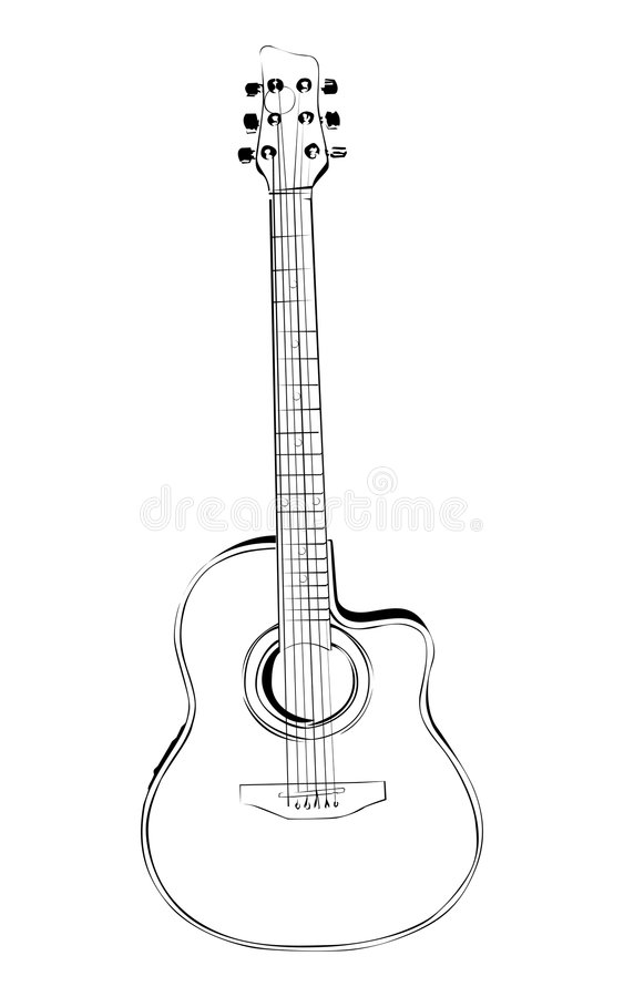 Guitare illustration de vecteur