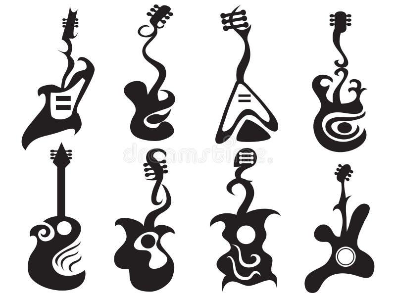 Guitare abstraite illustration de vecteur