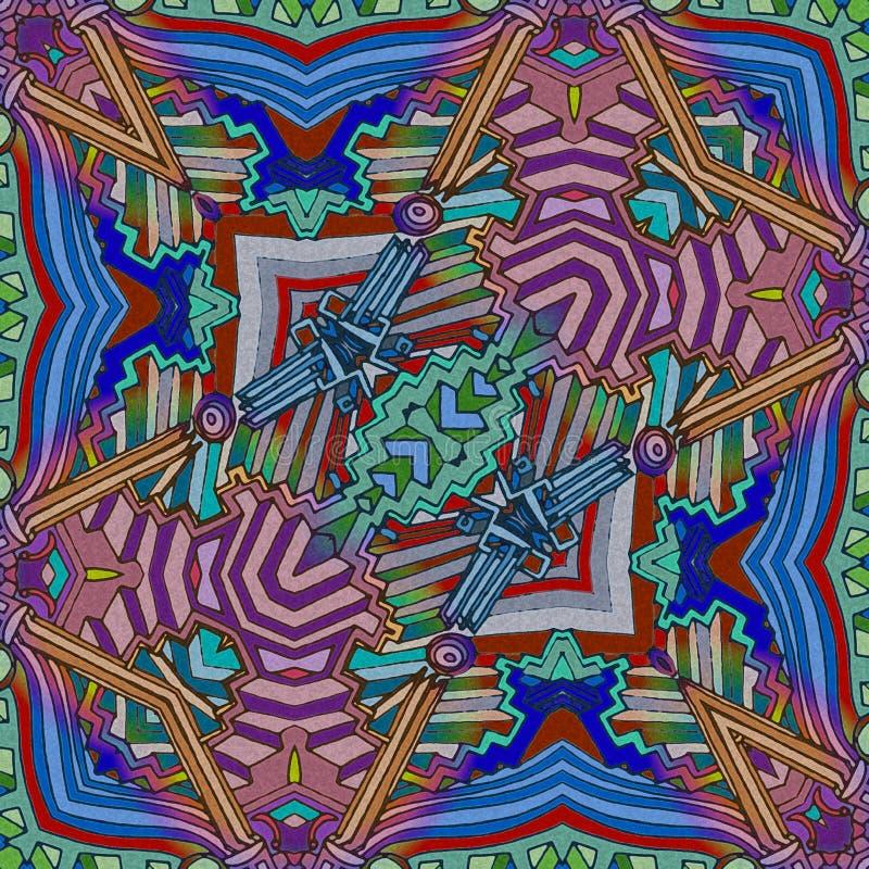 Guitare abstraite de couleurs - musique d'art d'inspiration illustration stock