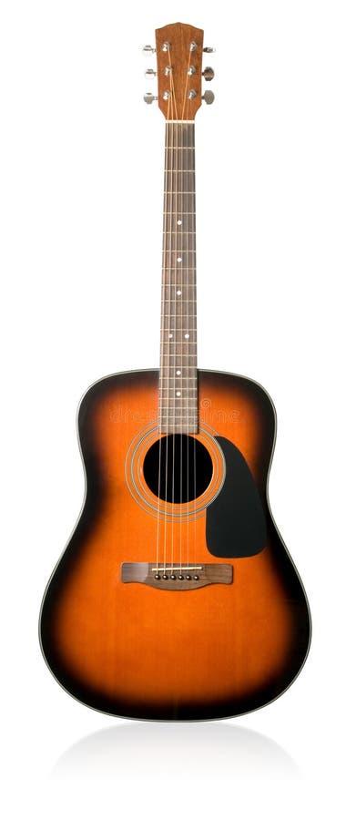 Guitare acoustique. photographie stock