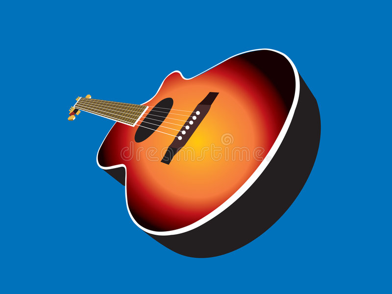 Guitare acoustique illustration stock