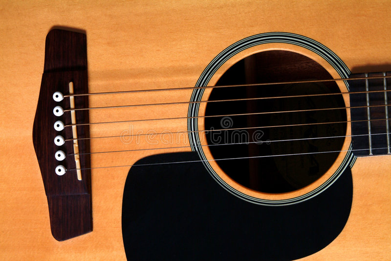 Guitare acoustique images stock