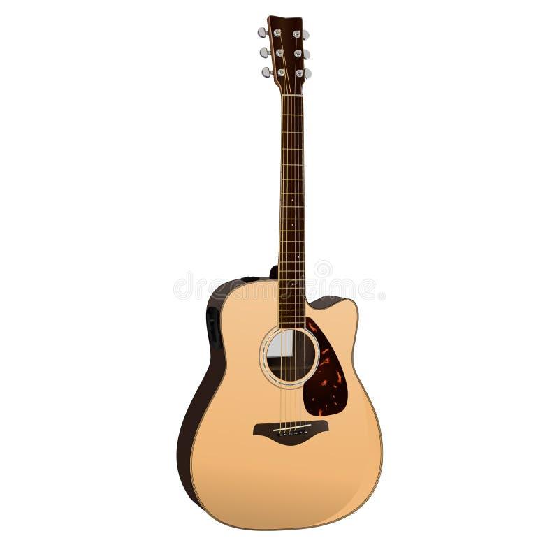 Guitare acoustique illustration de vecteur