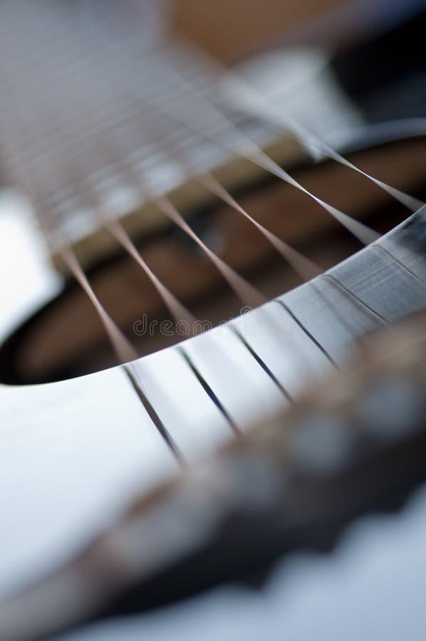 Guitare acoustique abstraite images libres de droits