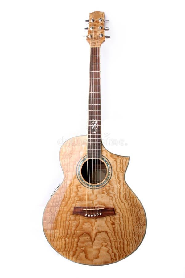 guitare acoustique d'isolement images libres de droits